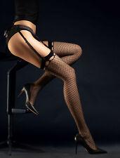 Bas sexy résille noir pour porte-jarretelles femme FIORE O4056 SENSUAL T2 T3 T4