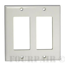 100 Pcs Pack Lot - Decora Style Flush Wall Face Plate Double 2 Gang GFCI - White