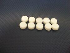 "NOS BAYLINER MAXUM 3/8"" ACROSS 3/16"" DEEP WHITE PLASTIC SCREW CAPS SET OF 10"
