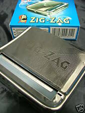 Zig Zag Cigarette ROLLING Machine Tobacco Tin Papers NEW
