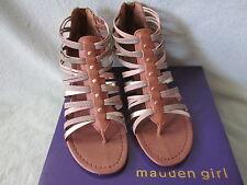 NIB Madden Girl Barrierr 8.5 Womens Cognac Gladiator Thong Sandals Really Cute !