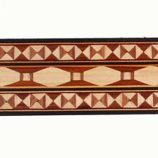 "Wide 1-7/8"" Compound Trompe l'oeil  Buffard Marquetry Banding (Inlay-115)"