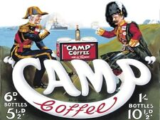 Camp Coffee, Army & Navy, Forces, Kitchen Cafe, Old Advert Small Metal/Tin Sign