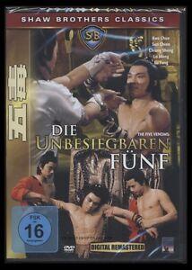 DVD DIE UNBESIEGBAREN FÜNF (5) - SHAW BROTHERS *** NEU ***
