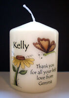 personalised candle gift present eg thank you leaving job missing you good luck