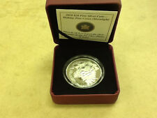 * 2010 Canada Canadian Holiday Pinecone Moonlight Crystal $20 Silver Proof w COA