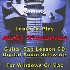 ANDY TIMMONS Guitar Tab Lesson CD Software - 24 Songs