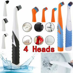 4-in-1 Electric Brush Super Sonic Scrubber Cleaning House Help Kitchen&Bathroom