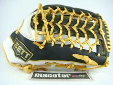 """Zett Special Order 13.5"""" Outfield Baseball / Softball Glove Black White Rht New"""