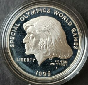 1995 P Proof $1 Special Olympics World Games Commemorative Silver Dollar