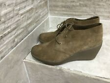 Clarks Active Air Wedge Heel Lace up Suede Shoes Size 8E wide fit New other