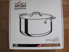 New In Box All Clad Stainless Steel Copper Core 8 Quart Stockpot with Lid
