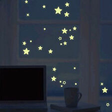 100pcs DIY Home Wall Ceiling Glow In The Dark Stars Stickers Decal Baby Bedroom