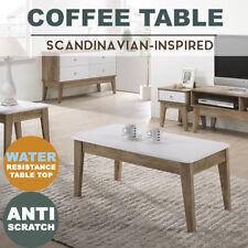 MEYA White Coffee Table Scandinavian Oak Modern Furniture