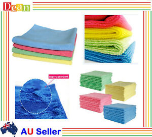 10/50/100 Pcs Microfibre Cloth Rag Bulk Car Kitchen Glass Cleaning Towel Washing