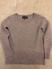Women's Banana Republic Todd & Duncan 100% Cashmere Sweater Grey Sky Size XS