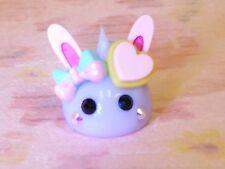 Rabbit Hoppe Chan with Heart Biscuit & Ribbon Purple Silicon Mini Mascot Kawa 00004000 ii