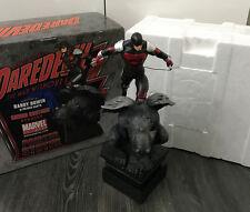 Bowen Designs Daredevil Armored Gargoyle Painted Statue Marvel Comics Sample