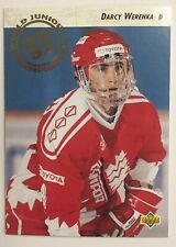 DARCY WERENKA 1992-93 Upper Deck #594 World Junior Championship Rookie RC Canada