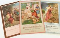 Vintage lot 1950s Scripture Text Calendar Church Daily Meditation Religious Art