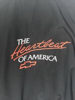 Chevrolet The Heartbeat Of America Vintage Full Zip Light Wind Jacket Adult Lrg