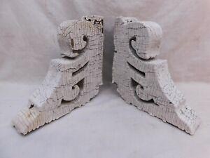 1800's Antique Wood CORBELS Scroll Design VICTORIAN EASTLAKE Style ORNATE