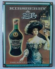 """vintage pepsi cola und dänischer kirsberry schild """"der erwachsenen cherry cola"""" 13"""" x 17"""""""