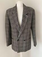 Womens Vintage St Michael's Wool Mix Tweed Style Navy Blazer Jacket 10 UK
