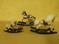 3 X CIRCUS FIGURES ROCKING HORSES