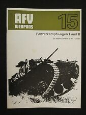 AFV Weapons Profile No. 15: Panzerkampfwagen I and II - 24 pages, Color Profiles