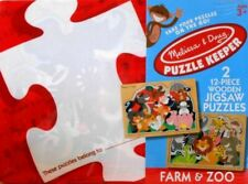 "MELISSA & DOUG PUZZLE JIGSAW KEEPER ""FARM & ZOO"" 12 PIECES - #9975"