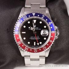 ROLEX GMT MASTER PEPSI BLUE RED BEZEL REF 16700 N# 1991 DIAL WRIST WATCH