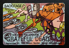 Grateful Dead Backstage Pass Rainforest People Puzzle Rowing Boston MA 9/22/1991
