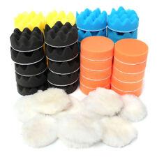 "50Pcs 80mm 3"" Inch Colorful Buffing Polishing Sponge Pads Kit For Car Polisher"
