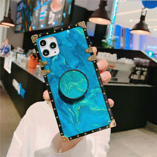 For iPhone 11 Pro Max Back Square Kickstand Hard Shockproof Patterned Case Cover