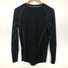 Smartwool Men's Shirt Size S Black NTS Light 195 Crew Neck Baselayer Merino Wool