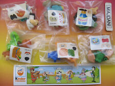 K96-51-61  ORSO YOGI BEAR SERIE COMPLETA + 6 CARTINE ADESIVI INTEGRI KINDER IT