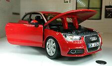 G LGB 1:24 Escala Rojo VW Audi A1 TDI TSI Burago DETALLADO Modelo 21058
