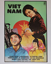 1982 Original Cuba Political Poster.Cold War Graphic Propaganda.Vietnam Viet Nam