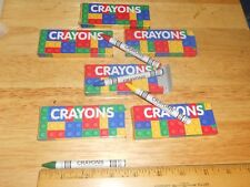 6 Packs: Building Brick Design On Crayon Package NON-TOXIC Party Favor (Not Lego