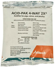 Acid Pak 4 way 2X Water Soluble Concentrate Acidifier Livestock Poultry Pig 8oz