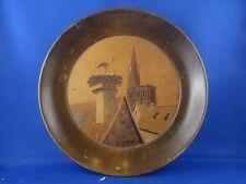 ancien tableau medaillon marqueterie alsacienne aufderbruck cigogne strasbourg