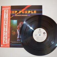 DEEP PURPLE - POWER HOUSE - 1977 JAPAN LP PROMO COPY + POSTER