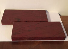Pair Vintage Paint Decorated Faux Rouge Marble Display Stand Plinth Rectangular