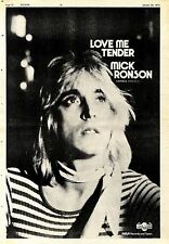 (Sds)26/1/1974Pg32 Album Advert 15x10 Nick Ronson love Me Tender