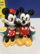 VINTAGE MICKEY AND MINNIE AT THE MOVIES PORCELAIN FIGURINE