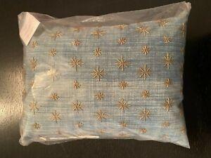 Pottery Barn Teen Emily & Meritt The Compass Star Beaded Pillow Blue 12 x 16