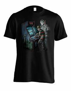 Freddie Vs Jason Officially Licensed Black T shirt Kruger Vs Voorhees