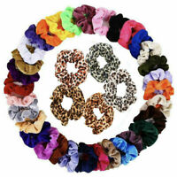 Lots Velvet Hair Scrunchies Hair Ties Elastic Hair Bands Ropes for Women Girl AU