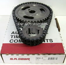 SA GEAR 73014-3 .200 DOUBLE ROLLER TIMING CHAIN SET SB Ford 302 351W 3 KEYWAY